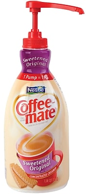 Nestlé® Coffee-mate® Coffee Creamer, Sweetened Original, 1.5L liquid pump bottle, 2 bottles