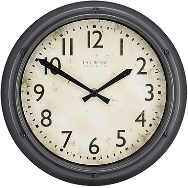 La Crosse Clock 404-2630 12 Inch Round Porthole Analog Plastic Wall Clock