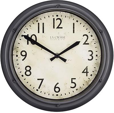 La Crosse Clock 12 Inch Round Porthole Analog Plastic Wall Clock (404-2630)