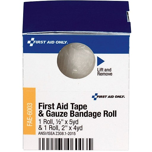 First Aid Only™ SmartCompliance Refill First Aid Tape and Conforming Gauze Bandage Roll, 1/Box (FAE-6003)