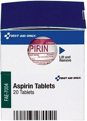 First Aid Only™ Aspirin Tablets, 10/Bx