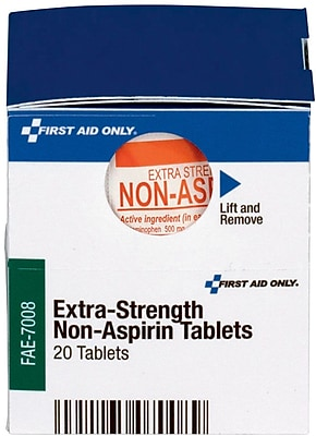 First Aid Only™ Extra-Strength Non-Aspirin (Acetaminophen), 10/Box (FAE-7008)