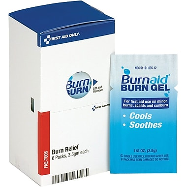 First Aid Only® SmartCompliance® Refill Burn Gel, 6 Per Box (FAE-7006)