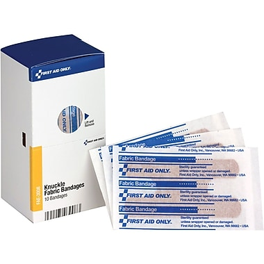 First Aid Only® SmartCompliance® Refill Fabric Knuckle Bandages, 10 Per Box (FAE-3008)