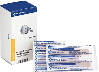 First Aid Only® SmartCompliance® Refill Assorted Fabric Bandages (5 Knuckle, 5 Fingertip) (FAE-3020)