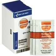 First Aid Only™ Ointments, Smart Compliance, Topical Antibiotic, 10 Packets/Box