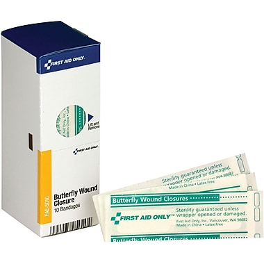 First Aid Only® SmartCompliance® Refill Butterfly Wound Closures, 10 Per Box (FAE-5010)