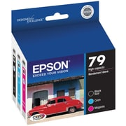 Epson 79 High Yield Black and Color C/M Ink Cartridges (T079920-S), Combo 3/Pack