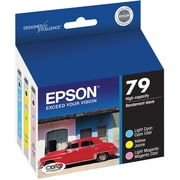 Epson 79 Color LC/Y/LM Ink Cartridges (T079921-S), High Yield, Combo 3/Pack