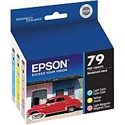 Epson T79 Light Cyan/Yellow/Light Magenta High Yield Ink Cartridge, 3/Pack