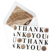 "Mara Mi, Log Pattern Thank You Cards , 3.5"" x 5"", 12 Pack (80574)"