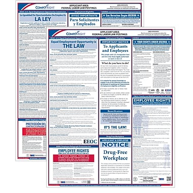 ComplyRight Federal Applicant Area Poster, Bilingual