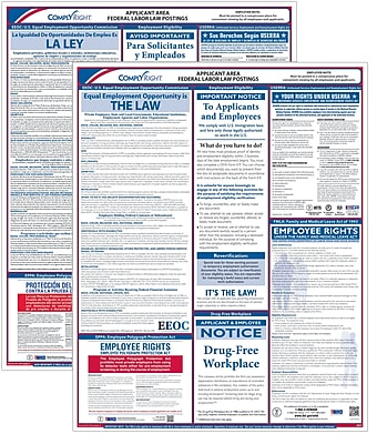 ComplyRight Federal Applicant Area Poster, Bilingual (E0076BIL)