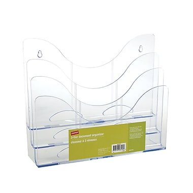 Staples Clear 3-Tier Organizer