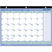 "2017-2018 Blueline®  11"" x 8-1/2"" Academic Monthly Mini Desk Pad Calendar, July '17-July '18,  (CA181721-18)"