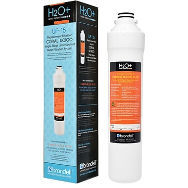 Brondell H2O+ Coral 300 Gallon Single-Stage Replacement Filter White (UF-15)