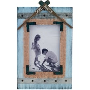 4x6 Weathered Blue Lake House Picture Frame