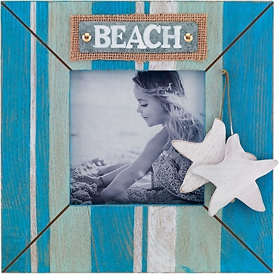 5x5 Blue Wave Beach Picture Frame