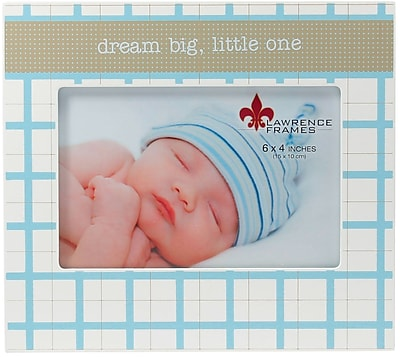 4x6 Dream Big Little One Blue and White