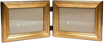 6x4 Hinged Double Sutter Burnished Gold Picture Frame