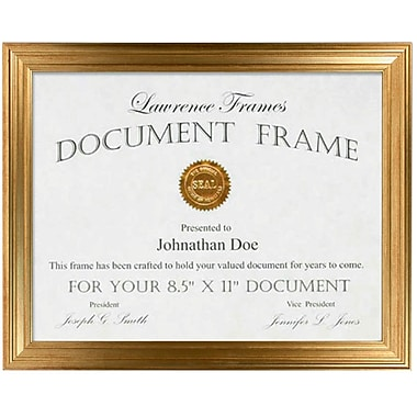 8.5x11 Sutter Burnished Gold Picture Frame