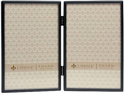 4x6 Hinged Double Simply Black Picture Frame