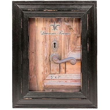 5x7 Weathered Black Wood Picture Frame