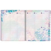 "2017-2018 AT-A-GLANCE® 8 1/2"" x 11"" Aura Blooms Academic Weekly/Monthly AppointmentBook/Planner,12 Months Lavender (585-905A-18)"