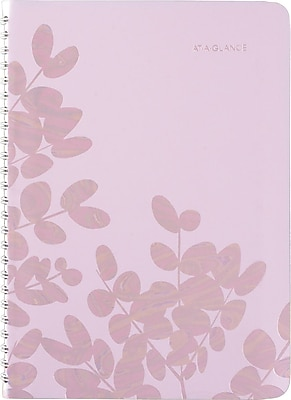 2017-2018 AT-A-GLANCE® Academic Aura Blooms Weekly/Monthly Planner, 13 Months, Lavender, 5-1/2