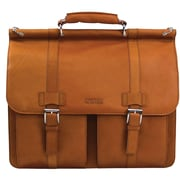 "Heritage 524453S Travelware Kenneth Cole R Tech 15"" Leather Portfolio Computer Case, Brown"