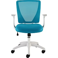 Staples Vexa Mesh Chair (White & Teal)