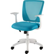 Staples® Vexa Mesh Chair, White & Teal