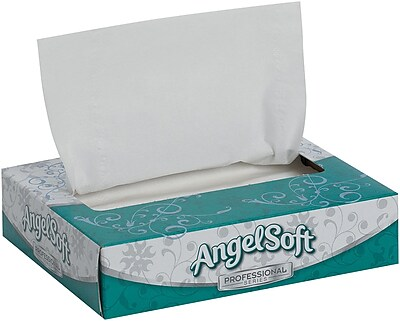 Angel Soft Professional Series® 2-Ply Facial Tissue by GP PRO, Personal Flat Box, 50 Sheets/Box, 60 Boxes/Carton (48550)