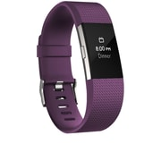 Fitbit Charge 2 Activity Tracker, Plum Silver, Small