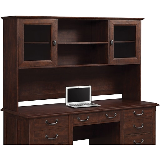Whalen Nottingham Credenza Hutch (SPUS-NHH) | Staples on workstation with hutch, console with hutch, sofa table with hutch, chest of drawers with hutch, coat rack with hutch, pedestal desk with hutch, secretary desk with hutch, pie safe with hutch, office with hutch, wine rack with hutch, side table with hutch, home office credenza and hutch, cupboard with hutch, bathroom cabinet with hutch, book case with hutch, executive desk credenza hutch, credenza and hutch set, writing desk with hutch, microwave with hutch, credenza and hutch combo,