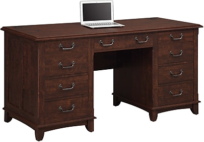Wonderful Whalen Nottingham Double Pedestal Desk | Staples QG96