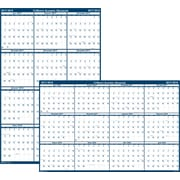 "2017-2018, House of Doolittle, 24""x37"", Academic Wall Calendar, Laminated Blue (395)"