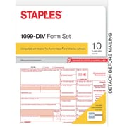 Staples 2016 Tax Forms, 1099-DIV, 10-Pack