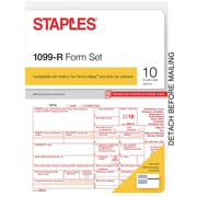 Staples 2016 Tax Forms, 1099-R, 10-Pack