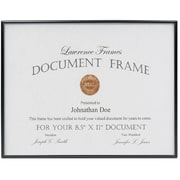 8.5x11 Simply Black Picture Frame
