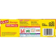 Glad Food Storage Zipper Quart 12/25ct
