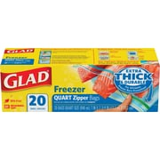 Glad Freezer Zipper Quart 20ct