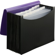 Smead Expanding File, 12 Pockets, Elastic Closure, Letter Size, Wave Pattern Purple/Black (70862)