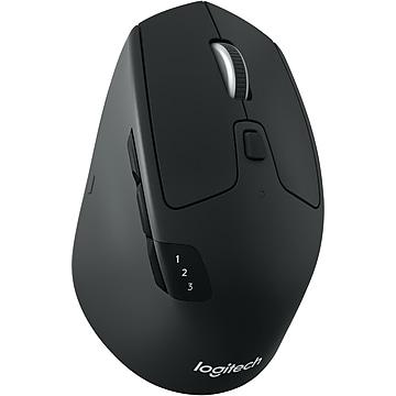 Logitech M720 Triathlon Wireless Bluetooth Multi-Device Mouse, Black (910-004790)