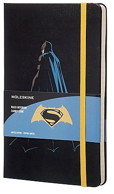 Moleskine, Limited Edition Notebook, Batman vs. Superman (Batman), Large, Ruled, Black (851527)