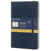 Moleskine, Two-Go Notebook, Medium, Plain and Ruled, Oriental Blue (851664)