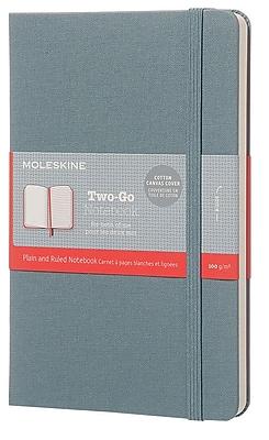 Moleskine, Two-Go Notebook, Medium, Plain and Ruled, Saxe Blue (851657)