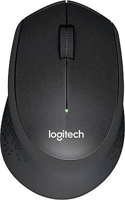 Logitech M330 Silent Plus Advanced Optical Wireless USB Mouse, Black (910-004905)