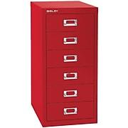 Bisley Six Drawer Steel Multidrawer File Cabinet, Red, Letter/A4 (MD6-RD)