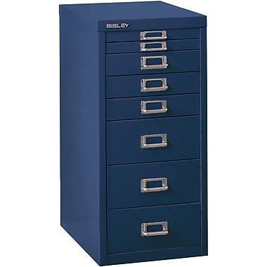 Bisley – Multidrawer en acier 8 tiroirs, bleu marine, lettre/A4 (MD8-NV)